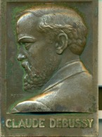 Médaille Claude Debussy 1862-1918. Signée Turin (1932) - Bronzes