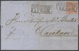 B312 NDP Kompl. Brief 1869 Mit EF Mi. 4 Seltener Kastenstempel Löwenberg In Schlesien Mit Jahr Ankunft Luban - Norddeutscher Postbezirk