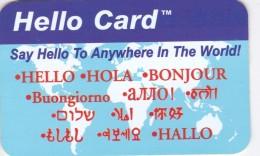 Dominican Republic, DM-D04?, $10 Hello Card 'Say Hello To' Esp:1-800-320-7176, 2 Scans .