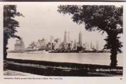 New York City Manhattan Skyline Seen From Governor's Island 1941