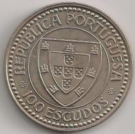 Moeda Portugal 100$00 100 Escudos Cupro-Níquel 1987 - BELA - Descobrimentos Portugueses Gil Eanes - Portugal