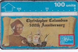 Gibraltar, GIB-17, Christopher Columbus, 100u. Ship, 2 Scans.  Please Read - Gibilterra