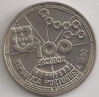 Moeda Portugal 100$00 100 Escudos Cupro-Níquel 1990 - BELA - Navegação Astronómica - Portugal