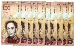 10 Billets De 100 VENEZUELA - Venezuela