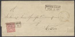 B318 NDP Brief 1868 2 X Gelaufen Mi. 4 Rahmenstempel Potsdam Bahnhof N. Wettin, Zuvor Portopflichtige Dienstsache - Norddeutscher Postbezirk