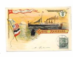 """Doppelschrauben Schnelldampfers """"FURST BISMARCK""""  -  Amerika Linie .1906 - Bateaux"""