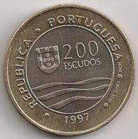 Moeda Portugal 200$00 200 Escudos Cupro-Níquel 1997 - BELA - Expo 98 Exposição Mundial De Lisboa - Golfinho - Dolphin - Portugal