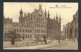 CPA - LOUVAIN - LEUVEN - Table Ronde - Hôtel De Ville Et Place Foch - Nels - Carte Specimen   // - Leuven