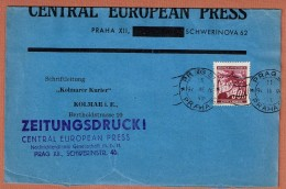T.D. Prag 31 Praha 9.III.41 Central European Press Zeitungsdruck Bande De Journal - Covers & Documents