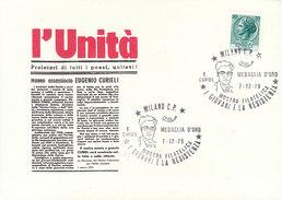MILANO 1978 MOSTRA FILATELICA I GIOVANI E LA RESISTENZA - CURIEL MEDAGLIA D´ORO - Seconda Guerra Mondiale
