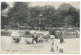 PARIS: Les Champs Elysées, Poussettes, Enfants. N°1097 C.M. Année 1920 - Champs-Elysées