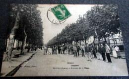 CPA Animée - FEURS (42) - Avenue De La Gare - Feurs
