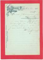 ROUBAIX 1904 MAISON PAUL DELMASURE LAINES ET DECHETS POUR MANUFACTURE COMMUNEAU A BEAUVAIS OISE - Roubaix