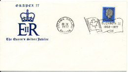 Canada Orapex 77 The Queen´s Silver Jubilee Ottawa Ont. 30-4-1977 (cover Number 610 Of 1000) - 1952-.... Reign Of Elizabeth II