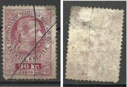 Österreich Austria 1873 Keiser Franz Joseph Telegraphenmarke 60 Kr. O - Telegraphenmarken