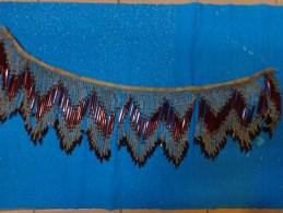 Decor En Verre (perle Et Tuyau) Pour Luminaire Ancien Longueur 74cm - Luminaires