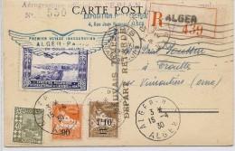 LCTN41- ALGÉRIE EXPOSITION PHILATÉLIQUE INT.LE AFRIQUE DU NORD AEROGRAMME N° 550 DU 15/4/1930 - Argelia (1924-1962)