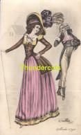 CPA ILLUSTRATEUR NAILLOD MODE 1790 FEMME ** ARTIST SIGNED NAILLOD FASHION ** PUB PUBLICITE MADAME DAVID DUNKERQUE - Naillod