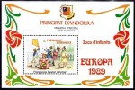 ANDORRA FR. 1989 EUROPA-CEPT / CHILDREN GAMES S/S MNH LOCAL ISSUE - Unused Stamps