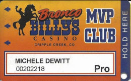 Bronco Billy´s Casino Cripple Creek, CO - 10th Issue Pro Slot Card - See Description & Scans! - Casino Cards