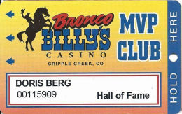 Bronco Billy´s Casino Cripple Creek, CO - 13th Issue Hall Of Fame Slot Card - See Description & Scans! - Casino Cards