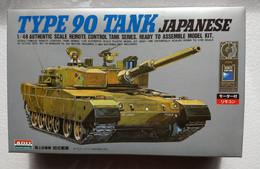 Type 90 Japan Tank : Télécommandé à Fil  / Wire Remote Controled  ( 1/48 ARII ) - Military Vehicles
