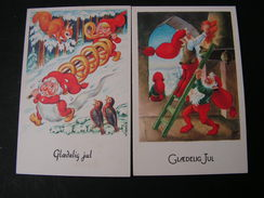 Danemark Jul  2  Karten Zwerge * - Künstlerkarten