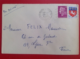 Guadeloupe POINTE à PITRE Pour Lyon - Postmark Collection (Covers)