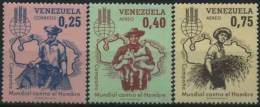 1963 Venezuela, Lotto Alla Fame Faim , Serie Completa Nuova (**) - Venezuela