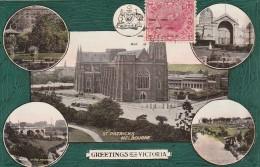 "Victoria - 1911 - Melbourne  - ""Greetings From Victoria"" - ST Patricks - Scan Recto-verso - Melbourne"