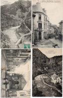 MAURIAC - 4 CPA -Rue Du Méridien - Palais De Justice Et Rue De La Prison - Moulin Et Pont D' Auze (88478) - Mauriac
