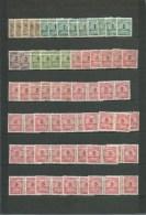 DEUTSCHE REICH 1923 INFLATION LOT FOND DE COLLECTION DANS Mi 313-331 MH/* 166 TIMBRES 3 SCANS - Allemagne