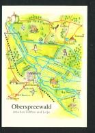 GERMANY  -  Oberspreewald  Map  Unused Postcard - Germany