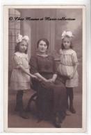 1922 - PETITES FILLES AVEC COIFFURE - DUPONT ET PAUTRAT - CARTE PHOTO - Groupes D'enfants & Familles
