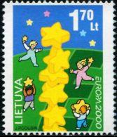 AX0343 Lithuania 2000 Europa Children And Stars 1v MNH - Europa-CEPT