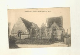 Cpa   NOUVION LE COMTE   Ruine De L'église - France