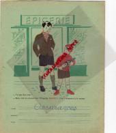 33 - BORDEAUX - PROTEGE CAHIER NEGRITA- BARDINET- EPICERIE-MODELES ECRITURE -DATES HISTOIRE-FLEUVES - Food