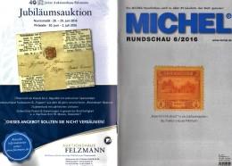 Briefmarken MICHEL Rundschau 6/2016 Neu 6€ New Stamps Of The World Catalogue/ Magacine Of Germany ISBN 978-3-95402-600-5 - Vieux Papiers