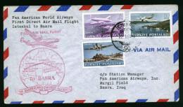 A4040) Türkei Turkey First Flight Cover 22.01.49 Istanbul To Basra - 1921-... Republik