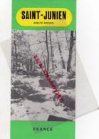 87 - SAINT JUNIEN - DEPLIANT TOURISTIQUE ANNEES 50- GANTERIE- GANTS-SAINT MARTIN JUSSAC - Dépliants Touristiques
