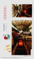 High Speed Steel Wire Rod Production Line,metallurgy,China 2003 The 50 Anni. Of Baotou Steel Group Pre-stamped Card - Minerals