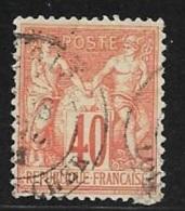 N°  70 TYPE  I  A A -   FRANCE  -  OBLITERE  - TYPE SAGE  40c - 1876-1878 Sage (Type I)