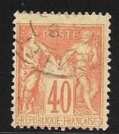 N°  70 TYPE  I  B -   FRANCE  -  OBLITERE  - TYPE SAGE  40c - 1876-1878 Sage (Type I)