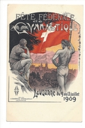 14809 -  Lausanne Fête Fédérale De Gymnastique Juillet 1909 Carte Tombola - VD Vaud
