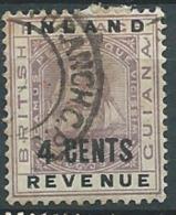 Guyane Anglaise   - Yvert Taxe  N°4a Oblitéré   - Az20925 - Guyane Britannique (...-1966)