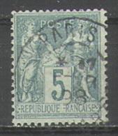 France Y&T 75 Cache à Date Type 84 Paris Sans Indication De Lever - 1876-1898 Sage (Type II)