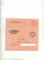 Lot 2 Lettre Franchise Cachet Paris Distribution - Marcophilie (Lettres)