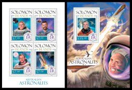 SOLOMON Isl. 2014 - Australian Astronauts - YT 2064-7 + BF267; CV = 27 €