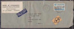 FRANCE, 1975, Airmail Cover (A.O.) From France To India  With 1969 Stamp Affixed Yvert 1585. - Posta Aerea