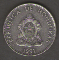 HONDURAS 50 CENTAVOS 1991 - Turchia